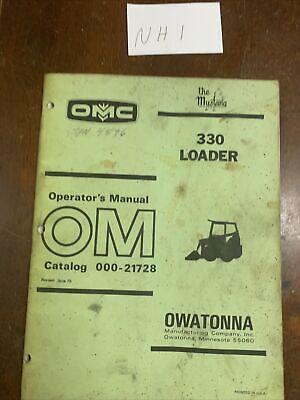Original Oem Mustang Omc 330 Skid Loader Operators Manual