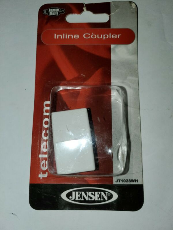 NEW Jensen JT11028WH In-Line Coupler White for Phone Fax Internet telecom