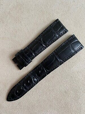 Blancpain Black Leather Crocodile Watch Strap 20mm X 16mm Used Condition