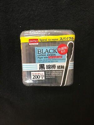 DAISO Japan Black Head Cotton Buds 200 Pieces Cotton Applicator free shipping!