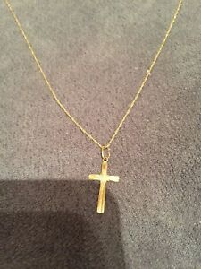 14k Gold Cross Necklace