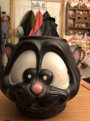 vintage halloween candy bucket Cat  - Halloween Candy Buckets