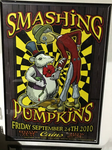 The Smashing Pumpkins Concert Poster Bill 9.24.10 2010 Cains Ballroom Tulsa OK