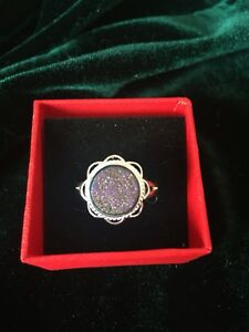 Assorted druzy rings and pendants