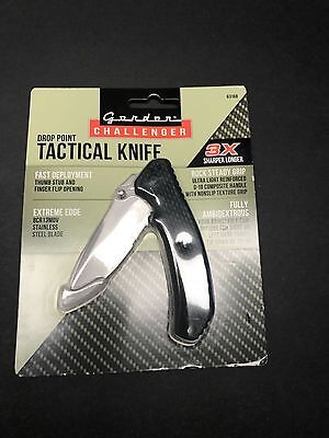 Gordon Challenger Drop Point Tactical Knife New In Package