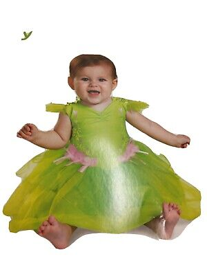 Infant Tinker Bell Deluxe Costume Size 12-18 Months Halloween dress up birthdays