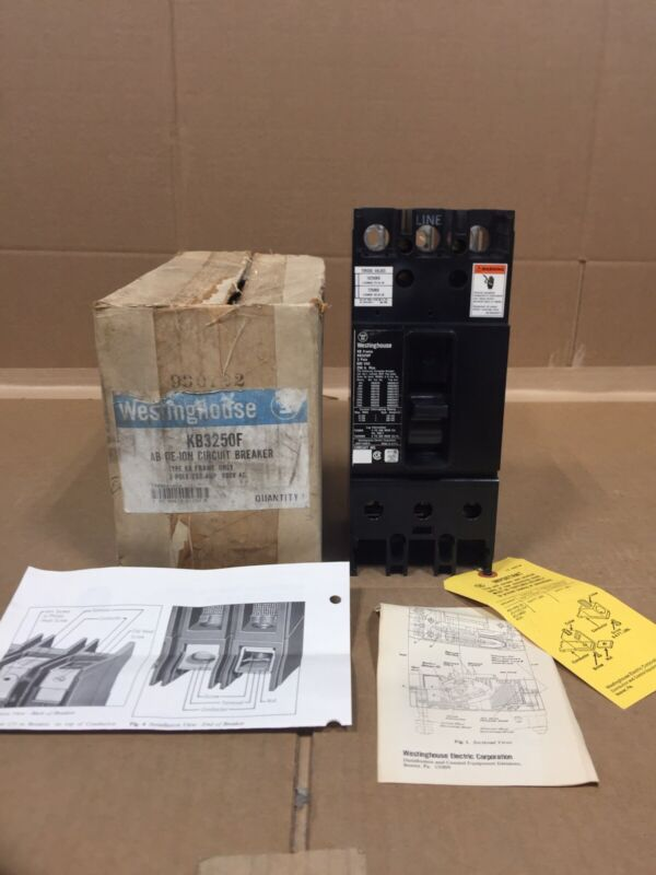NEW WESTINGHOUSE FRAME KB3250F TYPE KB 250A 600V FREE 2 DAY AIR HOUSTON STOCK