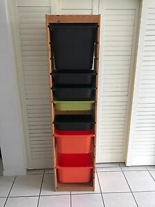 Ikea Trofast tall storage unit and boxes Mountain Creek Maroochydore Area Preview