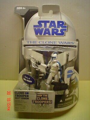 Star Wars Clone Wars Clone Trooper 501st Legion Walmart Exclusive 2007 free ship