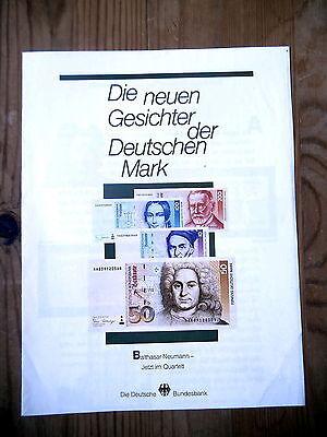 """Heft """"Die neuen Gesichter der Deutschen Mark"""" von 1991"""