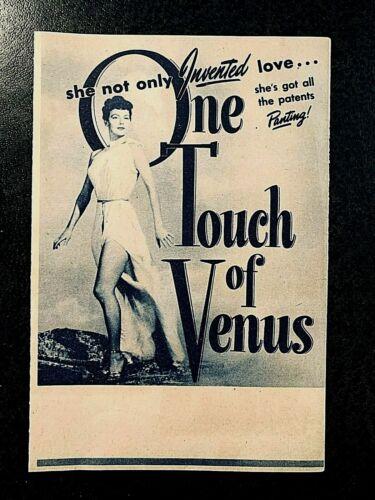ONE TOUCH OF VENUS 1948 MOVIE HERALD - AVA GARDNER, ROBERT WALKER +