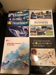 First year business admin books!