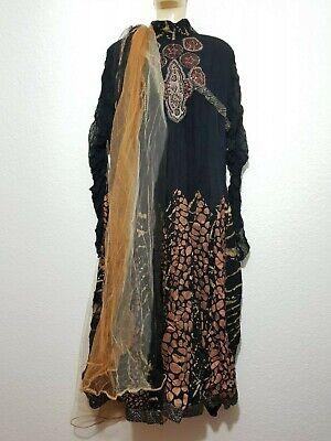Indisches Outfit Pakistan Anarkali Dupatta Kleid Abendkleid Partykleid Gr. M/L