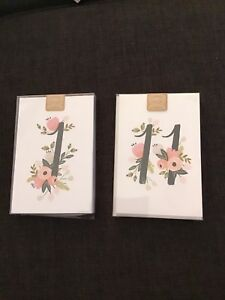 NEW Table Number Cards for a Wedding or Event