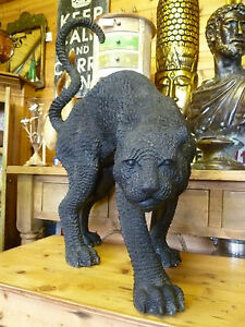 Antique life size  Bronze Panther