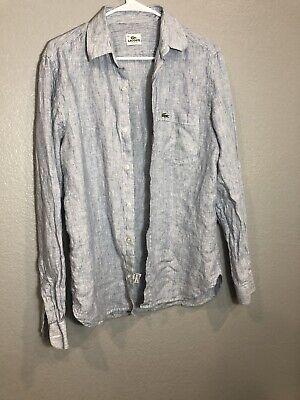 Lacoste Button Up  100% Linen Size 38