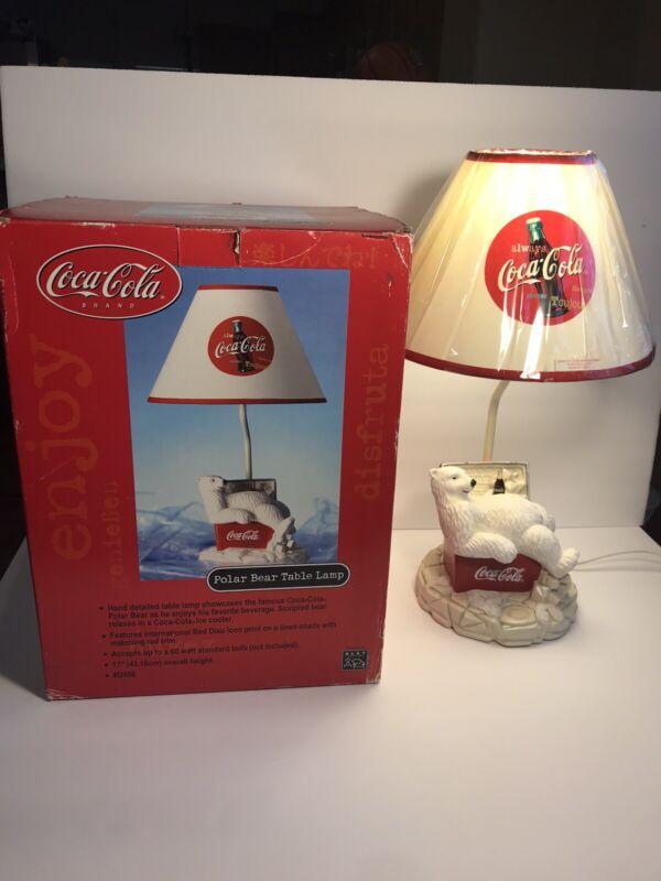 Coca Cola POLAR BEAR TABLE LAMP In Original Box