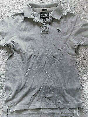 #3 ABERCROMBIE grey polo SHIRT sz. medium