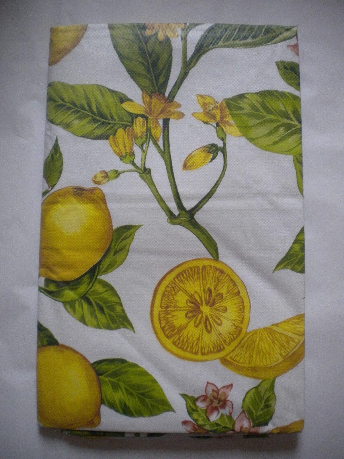 brand vinyl tablecloth lemon branch 52 x
