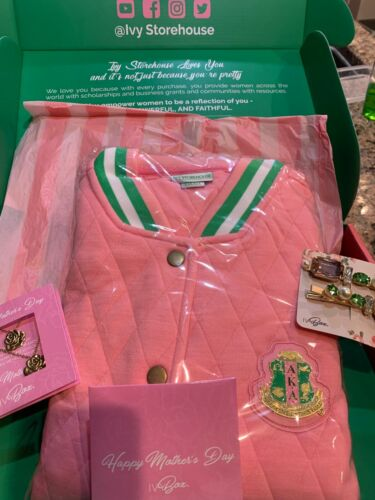 New Alpha Kappa Alpha Ivy Box Ivy Storehouse Quilted Jacket Size Small