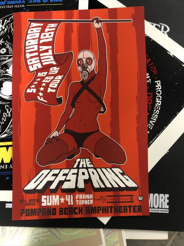 Sum 41 The Offspring Rare Event Poster  Florida