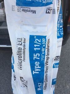 """Foil back insulation 1.5"""" thick x 4' wide x 100' long."""