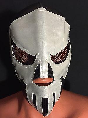 Punisher Mask (SILVER PUNISHER!! WRESTLING-LUCHADOR MASK! GREAT DESIGN! UNIQUE! RARE!)