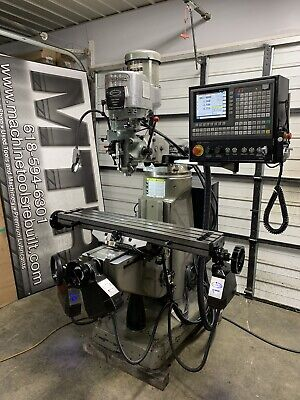 Single Phase Nice 9x48 2hp Bridgeport New Servo 3 Axis Cnc Installed