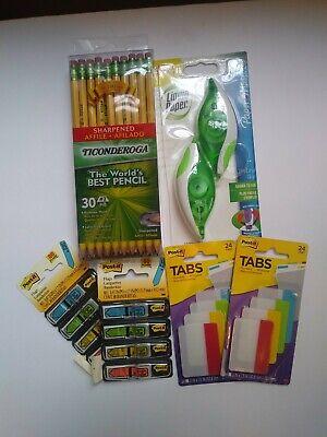 Post It Sign Here Flags Tabs Liquid Paper Correction Tape Ticonderoga 2 Pencils