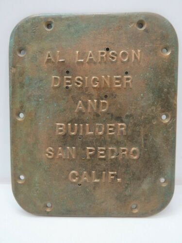 Bronze Boat Builders Plaque Sign - (B5C2895)