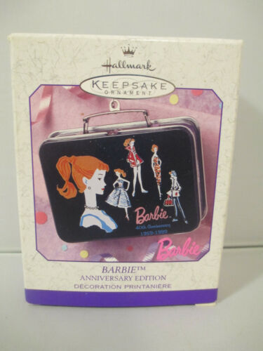 Barbie Anniversary Edition Pressed Tin Ornament 1999 Hallmark Keepsake