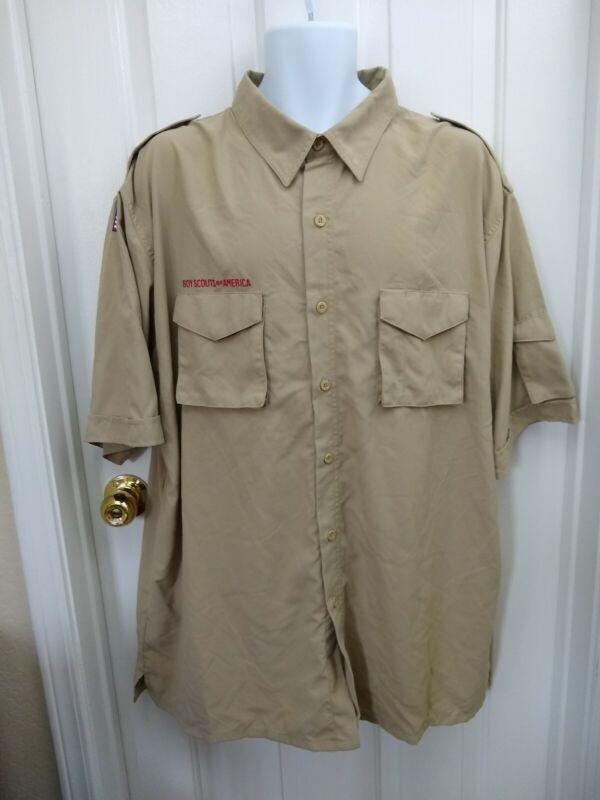 Boy Scouts of America adult XXL 2XL Centennial short sleeve poplin NWT shirt