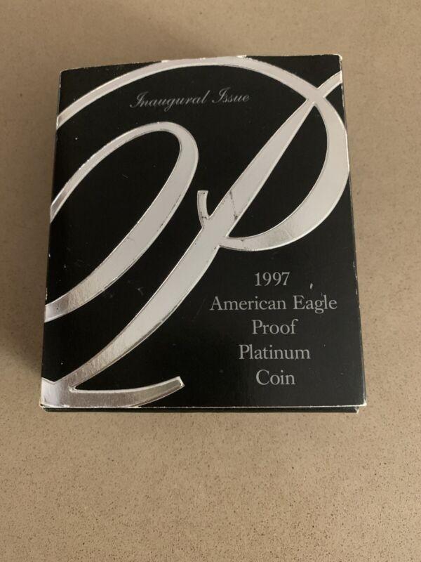 1 OZ 1997-PLATINUM $100 AMERICAN EAGLE .9995 PROOF COIN RARE Nice Case!!!
