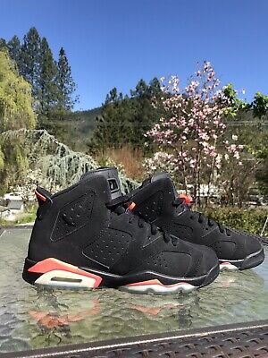 Nike Air Jordan 6 Retro Basketball Shoes - Black Infrared (size 7)