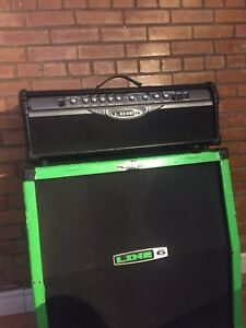 Line 6 spider 2 cab and head with pedal
