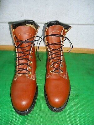 Iron Age Brown Leather Steel Toe Work Boot Men  SZ# 10.5 EEE