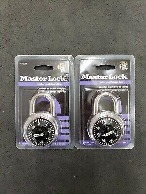 Master Lock Combination Lock 1500d Set Of 2 New