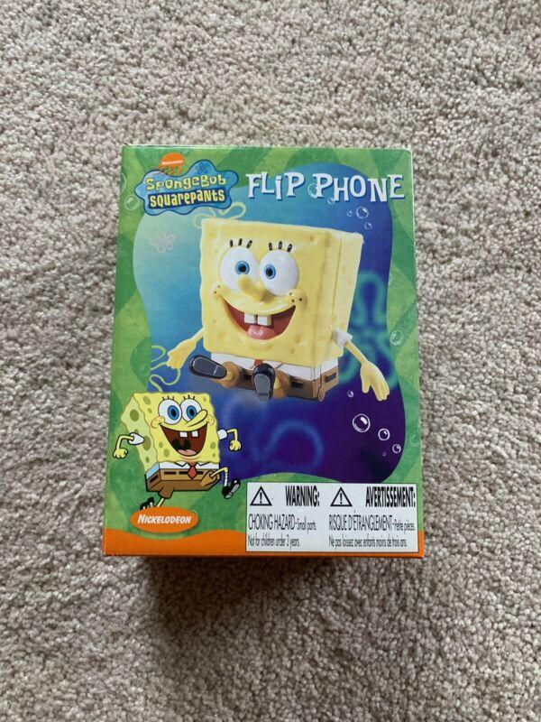 SPONGEBOB SQUAREPANTS FLIP PHONE / ABSOLUTELY BRAND NEW