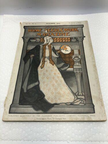 Vintage Home Needlework Magazine October 1904