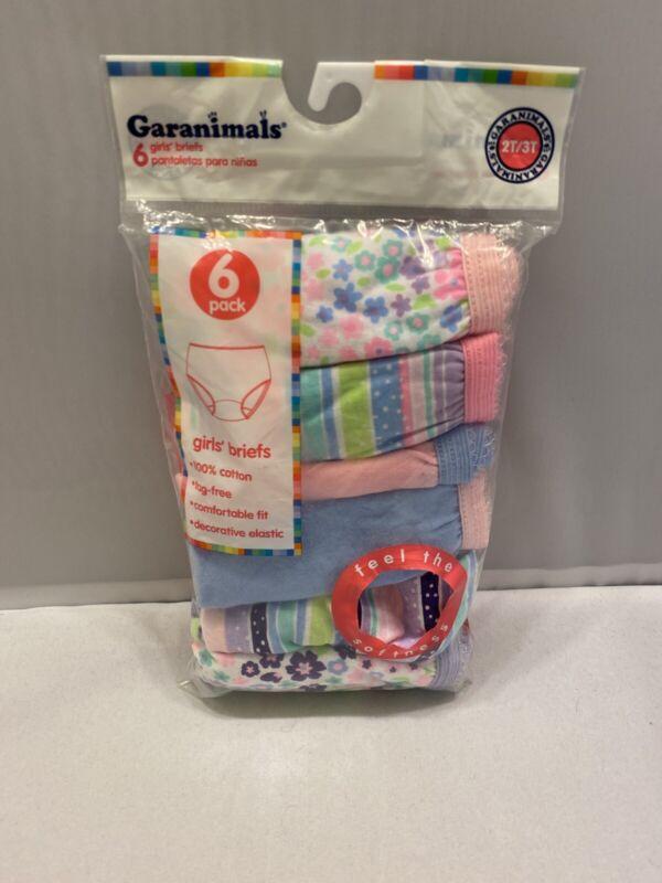 Garanimals Girls Briefs Underwear Size 2T-3T Baby & Toddlers