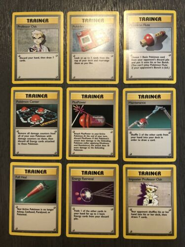 9 Card Pokemon Base Set Trainer Lot - $2.81
