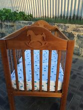 Wooden cot with mattress Edgewater Joondalup Area Preview
