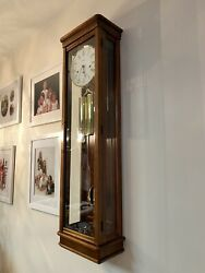 Very Large Howard Miller Chiming Wall Clock with Pendulum and Weights