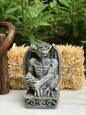 Miniature Dollhouse FAIRY GARDEN ~ Mini HALLOWEEN Gargoyle Statue Figurine ~ NEW (Halloween Fairy Garden)