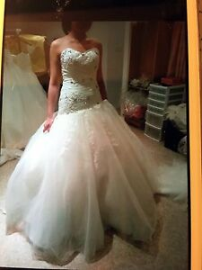 ******Drop Waist Princess Wedding Ball Gown