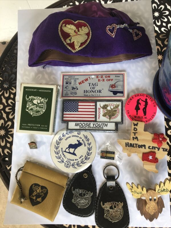 Lot Of Vintage Loyal Order Of Moose Memorabilia
