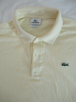 Lacoste Men's Polo Size 5 L SS Knit 100%CottonFrench Design Made in Peru
