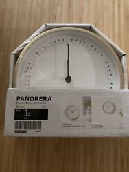 Ikea Panorera Table or Wall Clock Silent Illuminated 6 Brass color, Non-Ticking