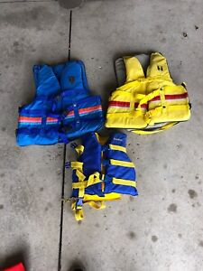 3 life jackets (2 adults, one child)