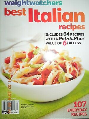 BEST ITALIAN weight watchers 107 EVERYDAY RECIPES + POINTSPLUS VALUE 6 OR